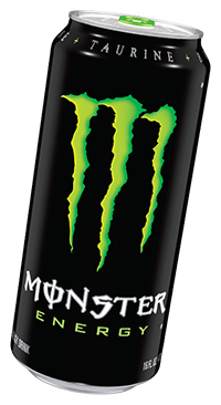 a Monster Energy can